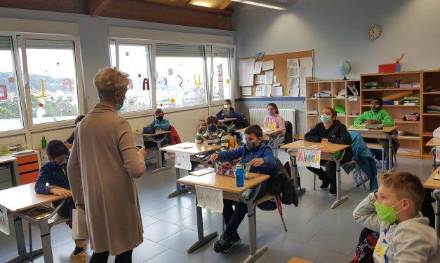 La escritora Yolanda Arrieta ha estado con los alumnos de 5º curso